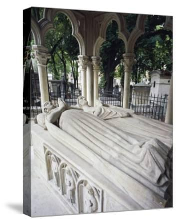Tomb of Abelard and Heloise--Stretched Canvas Print