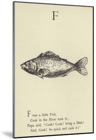 The Letter F-Edward Lear-Mounted Giclee Print