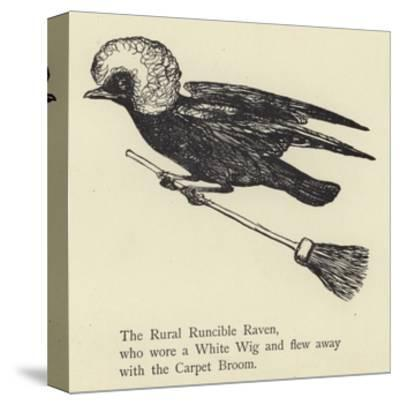 The Rural Runcible Raven-Edward Lear-Stretched Canvas Print