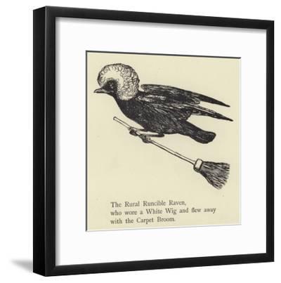 The Rural Runcible Raven-Edward Lear-Framed Giclee Print