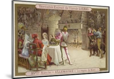 Christmas Feast, Germany, 15th Century--Mounted Giclee Print