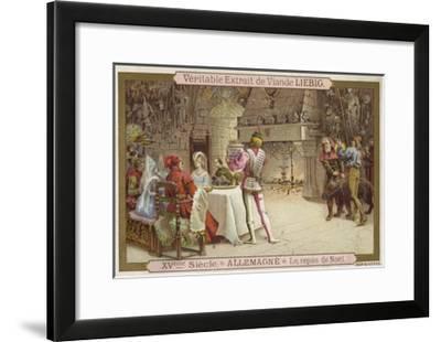 Christmas Feast, Germany, 15th Century--Framed Giclee Print