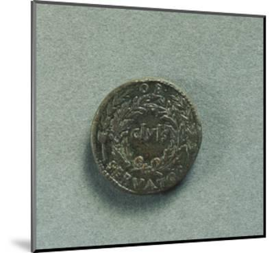 Reverse with Sestertius of Emperor Augustus--Mounted Giclee Print