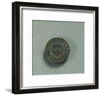 Reverse with Sestertius of Emperor Augustus--Framed Giclee Print