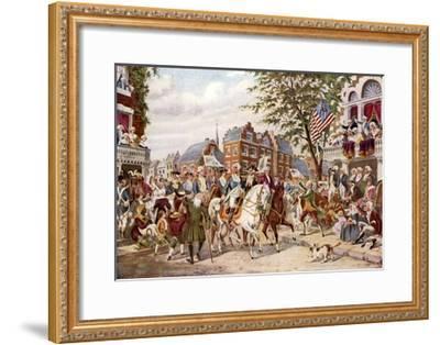 Washington's Entry into New York, 23 April 1789--Framed Giclee Print