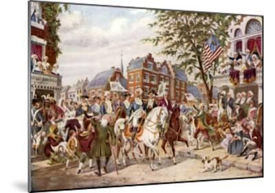 Washington's Entry into New York, 23 April 1789--Mounted Giclee Print