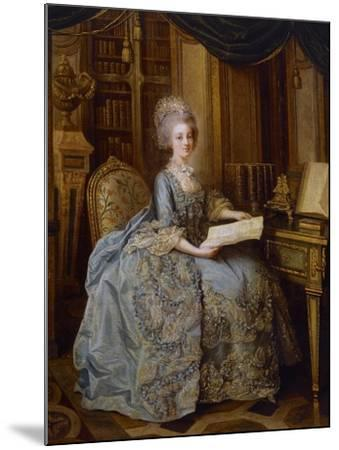 Portrait of Marie Antoinette--Mounted Giclee Print