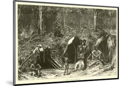 A Native Encampment--Mounted Giclee Print