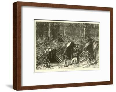 A Native Encampment--Framed Giclee Print