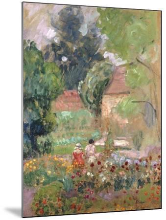 Marthe, Nono and Pierre in the Garden-Henri Lebasque-Mounted Giclee Print