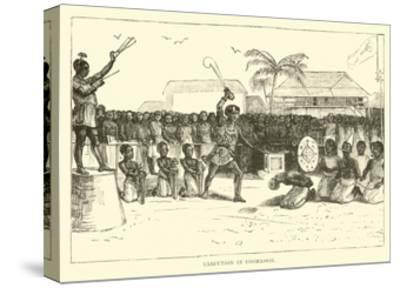 Execution in Coomassie--Stretched Canvas Print