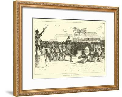 Execution in Coomassie--Framed Giclee Print