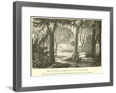 Ideal Landscape of the Coal Measures--Framed Giclee Print