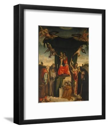 San Bernardino Altarpiece by Lorenzo Lotto--Framed Giclee Print