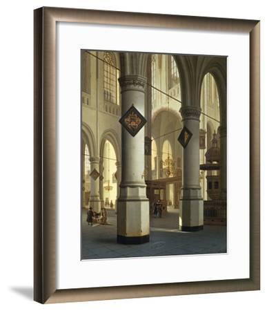 Austria, Vienna, Painted Image of Oude Kerk--Framed Giclee Print