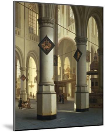 Austria, Vienna, Painted Image of Oude Kerk--Mounted Giclee Print