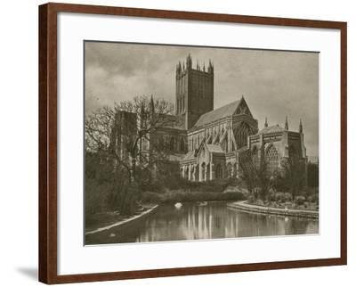 Wells Cathedral, from the Swan Pool--Framed Photographic Print