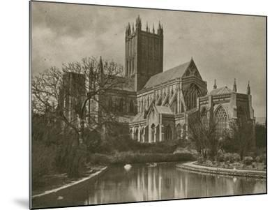 Wells Cathedral, from the Swan Pool--Mounted Photographic Print