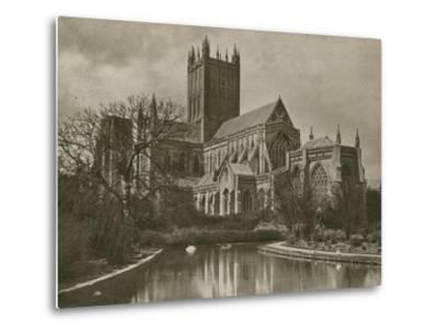 Wells Cathedral, from the Swan Pool--Metal Print