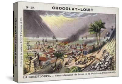 Earthquake at Pointe-A-Pitre, Guadeloupe, 1843--Stretched Canvas Print