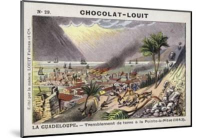 Earthquake at Pointe-A-Pitre, Guadeloupe, 1843--Mounted Giclee Print