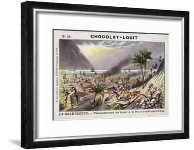 Earthquake at Pointe-A-Pitre, Guadeloupe, 1843--Framed Giclee Print
