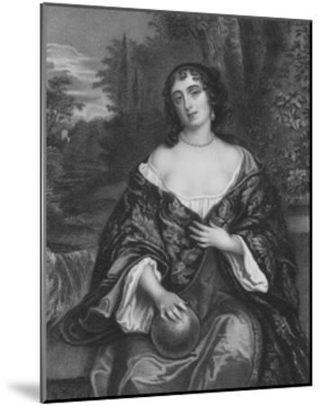 Elizabeth Bagot, Countess of Falmouth and Dorset-Sir Peter Lely-Mounted Giclee Print