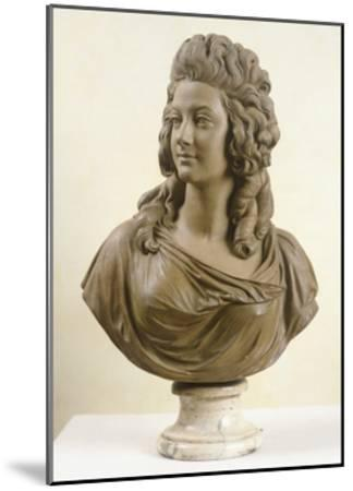 Bust of Young Woman, by Augustin Pajou--Mounted Giclee Print
