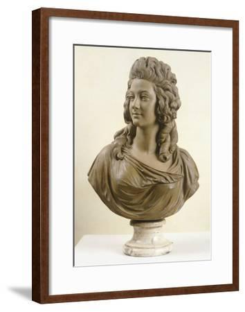 Bust of Young Woman, by Augustin Pajou--Framed Giclee Print
