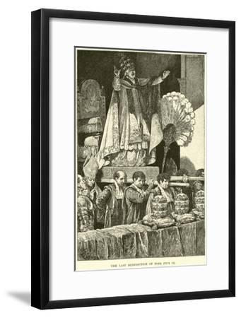 The Last Benediction of Pope Pius IX--Framed Giclee Print