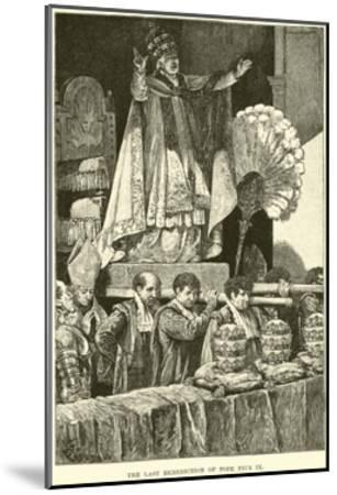 The Last Benediction of Pope Pius IX--Mounted Giclee Print