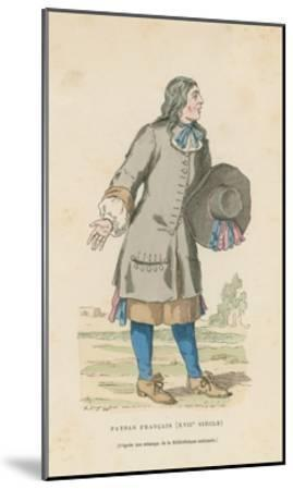 French Peasant, 17th Century--Mounted Giclee Print