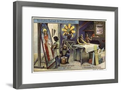 Stained Glass Manufacturing, 12th Century--Framed Giclee Print