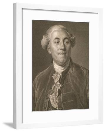 Portrait of Jacques Necker--Framed Giclee Print