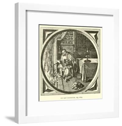 Scene from Houwelick, by Jacob Cats, 1625--Framed Giclee Print