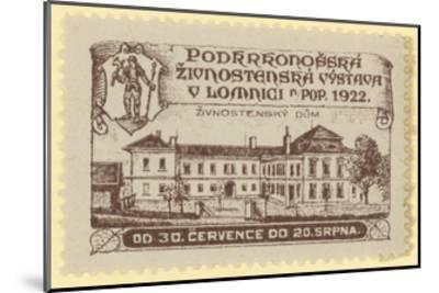 Trade Exhibition, Lomnica., Czechoslovakia, 1922--Mounted Giclee Print