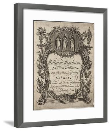 Linen Draper, William Wiseham, Trade Card--Framed Giclee Print