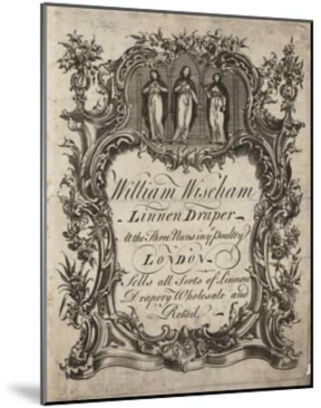 Linen Draper, William Wiseham, Trade Card--Mounted Giclee Print