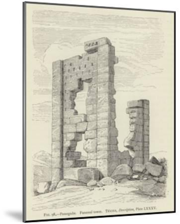 Pasargadae, Funereal Tower--Mounted Giclee Print