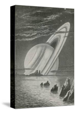 Saturn Like a Setting Sun--Stretched Canvas Print