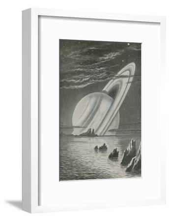 Saturn Like a Setting Sun--Framed Giclee Print