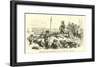 The King and Richelieu at La Rochelle--Framed Giclee Print