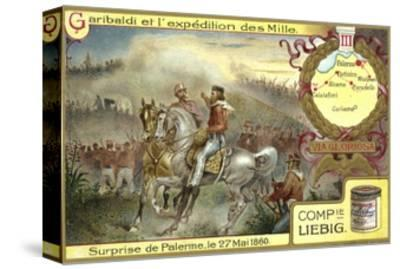 Attack on Palermo, Sicily, 27 May 1860--Stretched Canvas Print