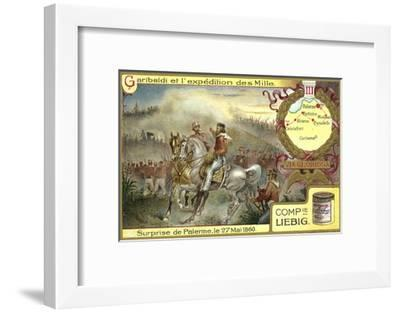 Attack on Palermo, Sicily, 27 May 1860--Framed Giclee Print