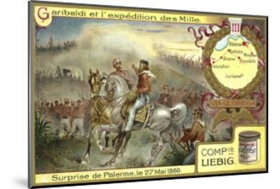 Attack on Palermo, Sicily, 27 May 1860--Mounted Giclee Print