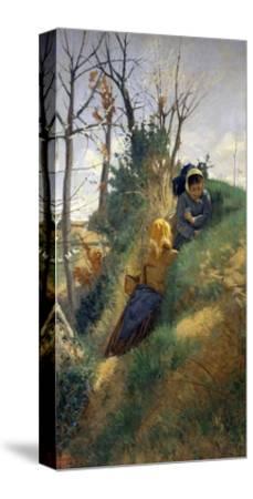 Pastoral Scene-Niccolo Cannicci-Stretched Canvas Print