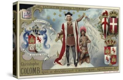 Christopher Columbus, Discoverer of America--Stretched Canvas Print