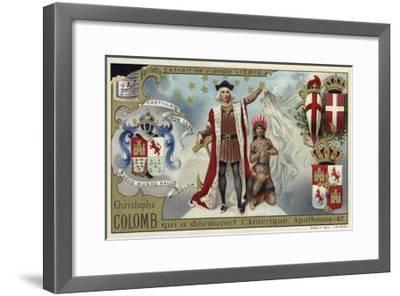 Christopher Columbus, Discoverer of America--Framed Giclee Print