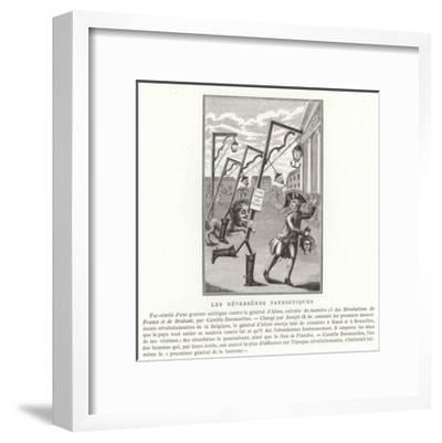 Patriotic Streetlamps--Framed Giclee Print