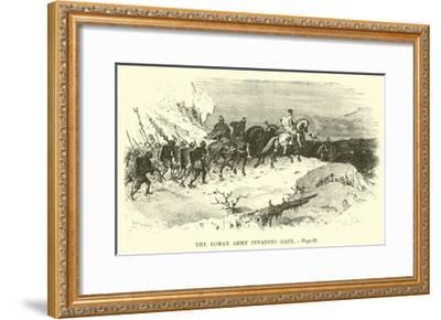 The Roman Army Invading Gaul--Framed Giclee Print